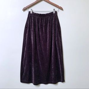 OAK + FORT Soft Velvet Skirt